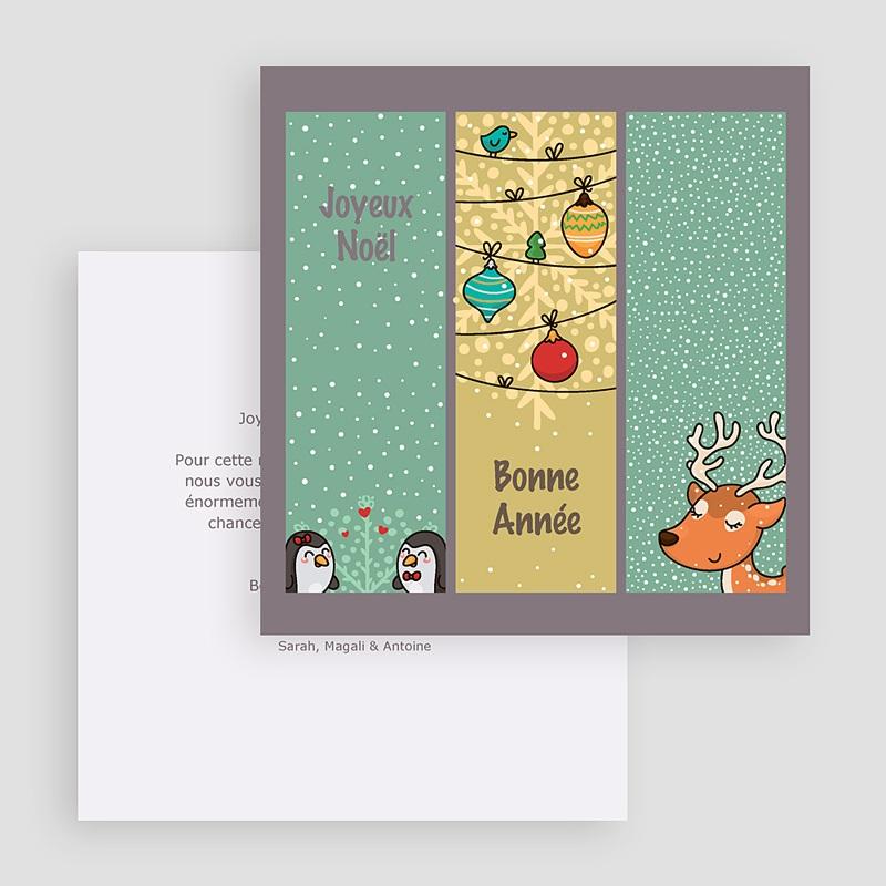 Carte de Voeux Joyeux Noël et Bonne Année Esprit BD de Noel gratuit