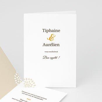 Achat menu mariage personnalisé duo tiphaine et aurélien