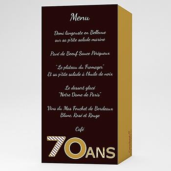 Créer soi même carte invitation anniversaire adulte or chocolat