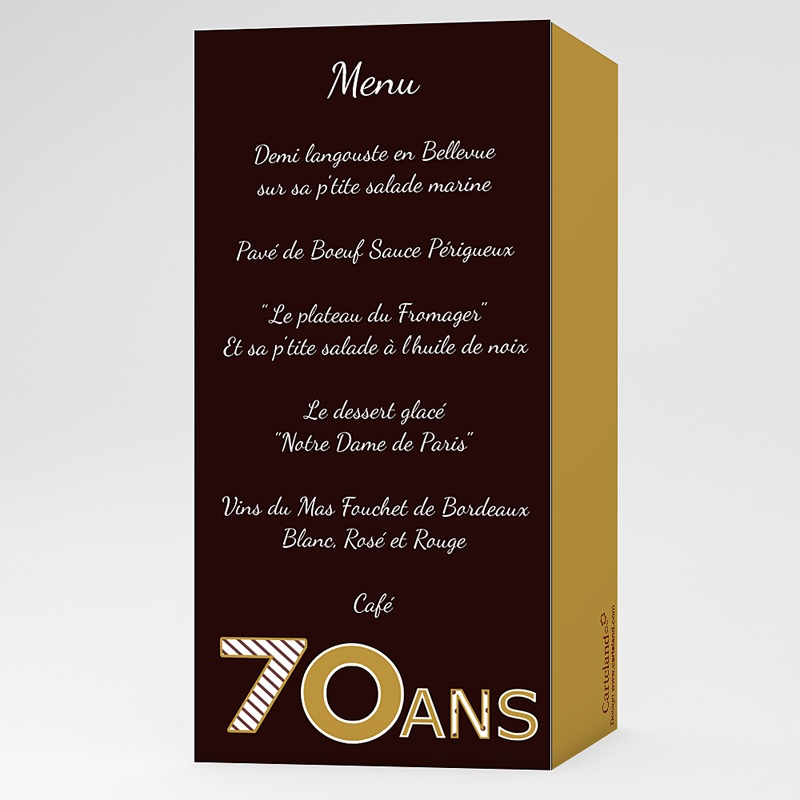 Invitation Anniversaire Adulte -  Or Chocolat 22908 thumb