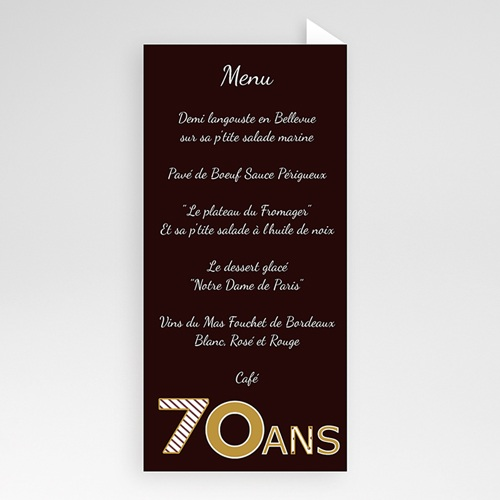 Invitation Anniversaire Adulte -  Or Chocolat 22909 preview