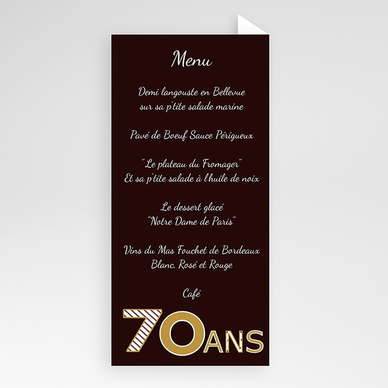 Invitation Anniversaire Adulte -  Or Chocolat 22909 thumb