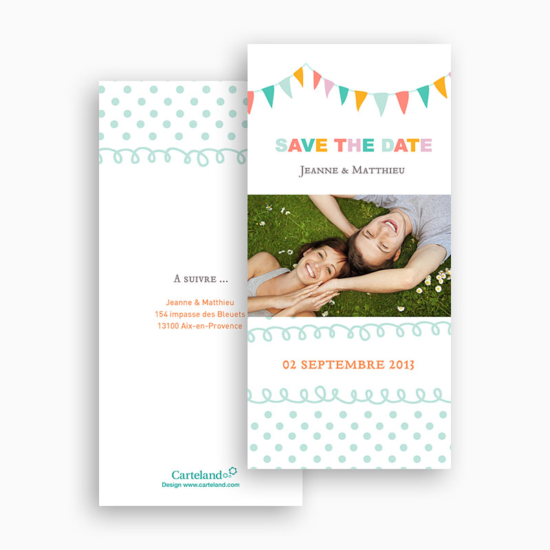 Save-The-Date - Fanions pastel 22945 thumb