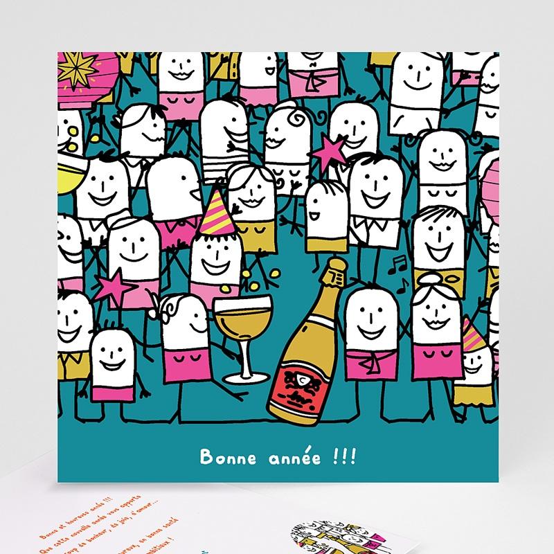 Carte de voeux Bonne Année Champagne