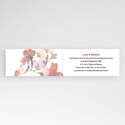 Faire-Part Mariage Personnalisés - Fleur et corail 22977 thumb