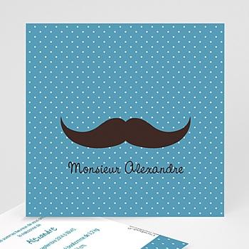 Faire-Part Naissance Garçon - Monsieur Moustache - 1