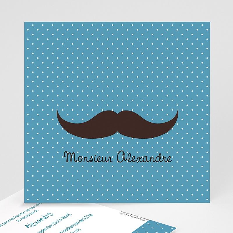 Faire-Part Naissance Garçon Monsieur Moustache