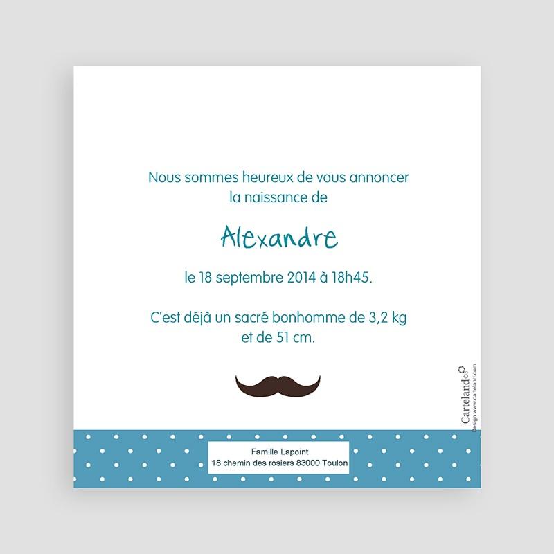 Faire-Part Naissance Garçon Monsieur Moustache pas cher