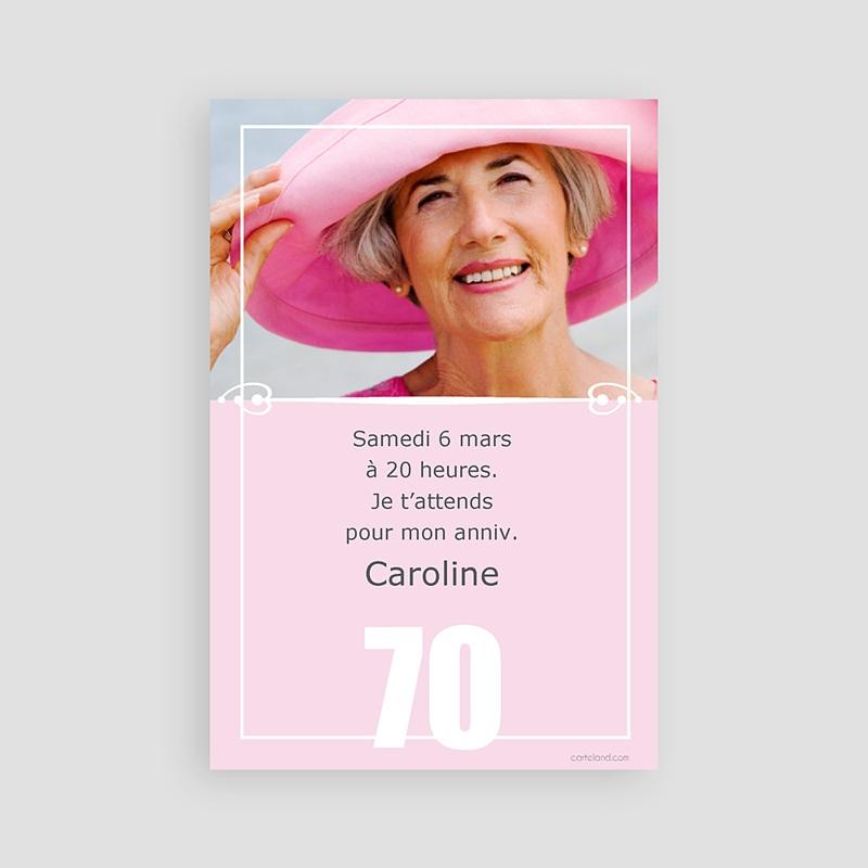 Carte Anniversaire 70 Ans Invitation Femme Et Homme