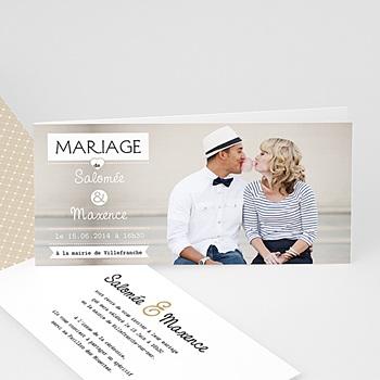 Faire-Part Mariage Personnalisés - Graphic Chic - 1