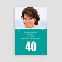 Invitations Anniversaire adulte de 40 à 49 ans