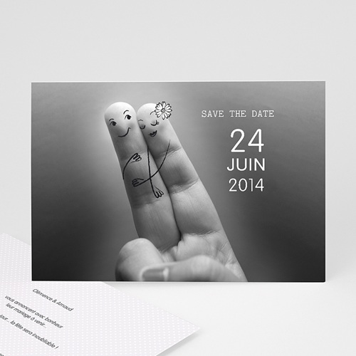 Save The Date Mariage Deux amoureux
