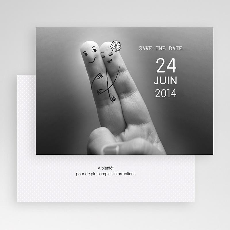 Save the date mariage Deux amoureux gratuit