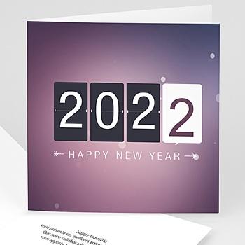 Achat carte de voeux entreprise compteur nouvel an
