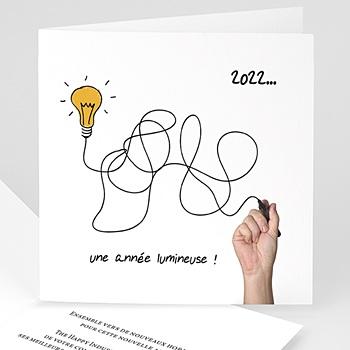 Carte de Voeux Professionnelle - Une année lumineuse - 1