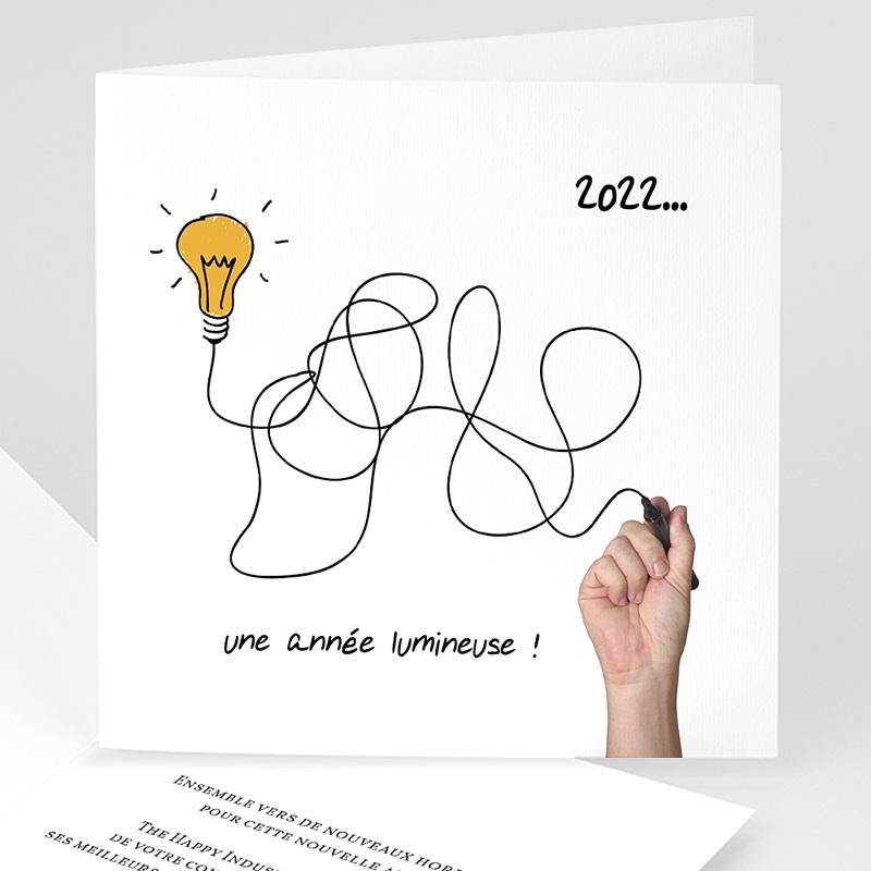 Carte de Voeux Professionnelle - Une année lumineuse 23221 thumb