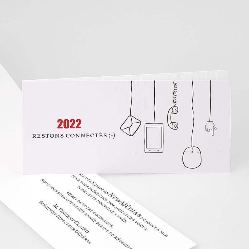 Carte de Voeux Professionnelle - Stay Connected 23233 thumb
