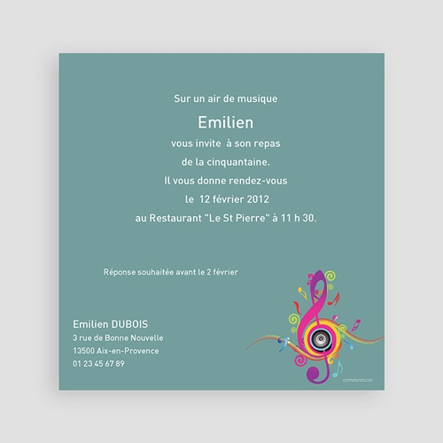 Invitation Anniversaire Adulte - Musique ! Multi-photos 2327 thumb