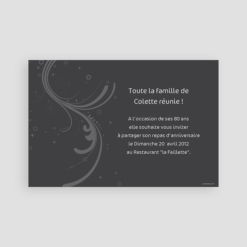 Invitation Anniversaire Adulte - Retrospective 2331 thumb