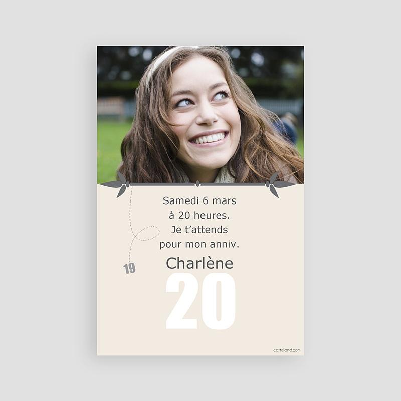 Célèbre Invitation Anniversaire Adulte - 20 ans | Carteland.com RI71