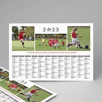 Calendrier monopage football pas cher