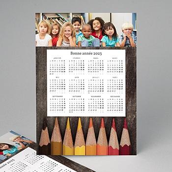 Achat calendrier professionnel crayons de couleurs
