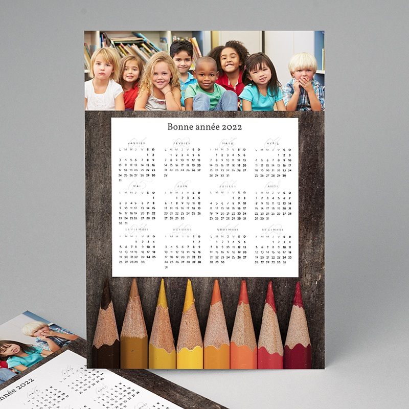 Calendrier Entreprise 2020 Crayons de couleurs