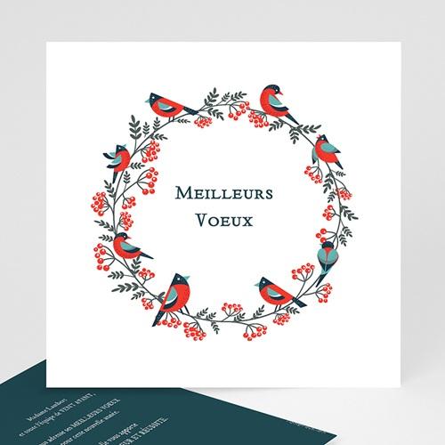 Cartes de Voeux Professionnels - Couronne de Noël 23478