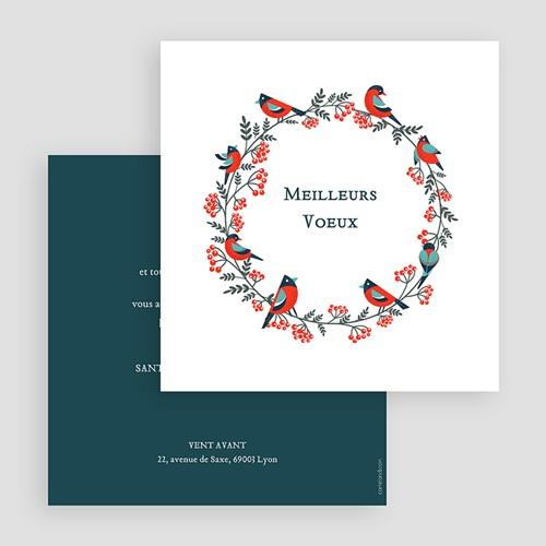 Cartes de Voeux Professionnels - Couronne de Noël 23480 preview