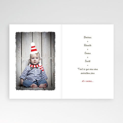 Carte de voeux Bonne Année lapin écharpe et bonnet pas cher