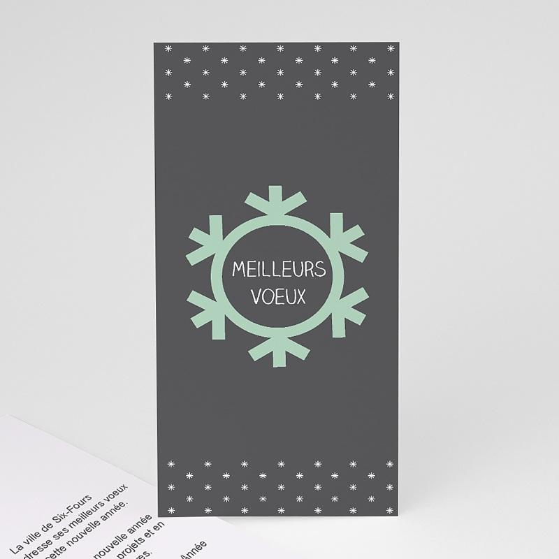 Carte de Voeux Entreprise Flocon de Noel
