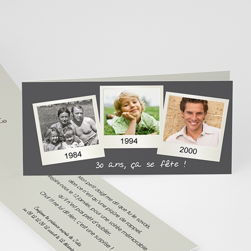 Invitation Anniversaire Adulte - Retrospective 23517
