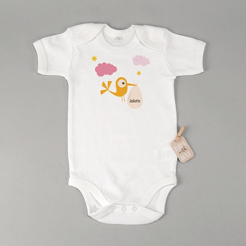 Body bébé Cigogne fille