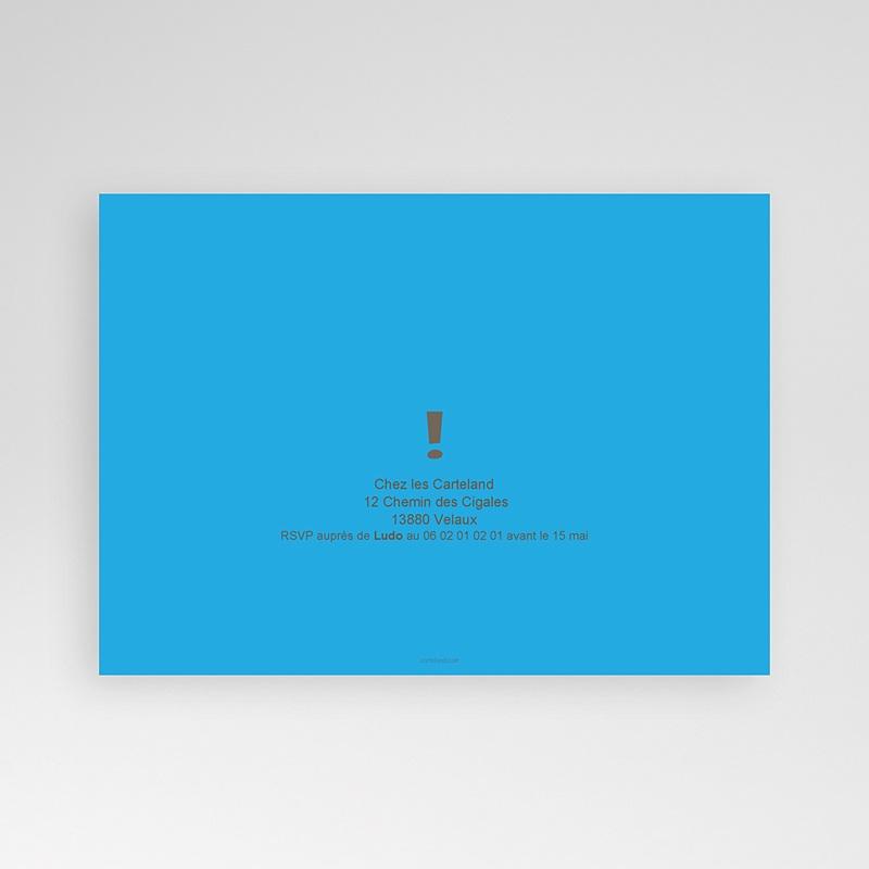 Carte Invitation Anniversaire Adulte 50 ans bleu pas cher