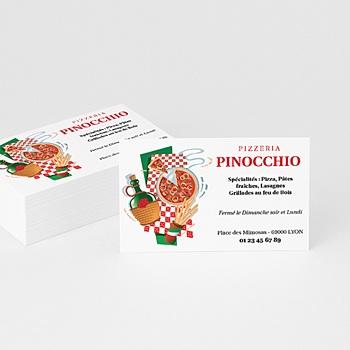 Carte de Visite Pizzaria Restaurant