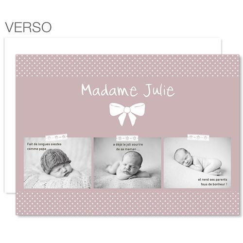Tous les Faire-Part Naissance - Madame 23643