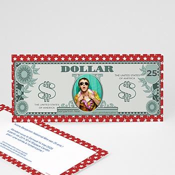 Invitation Anniversaire Adulte - Dollar américain - 1