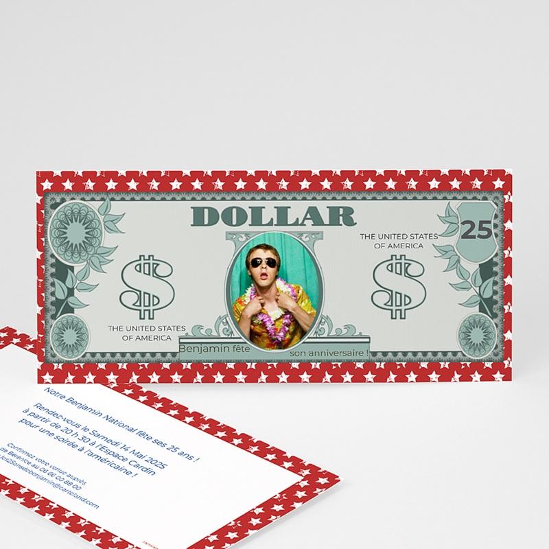 Invitation Anniversaire Adulte - Dollar américain 23649 thumb