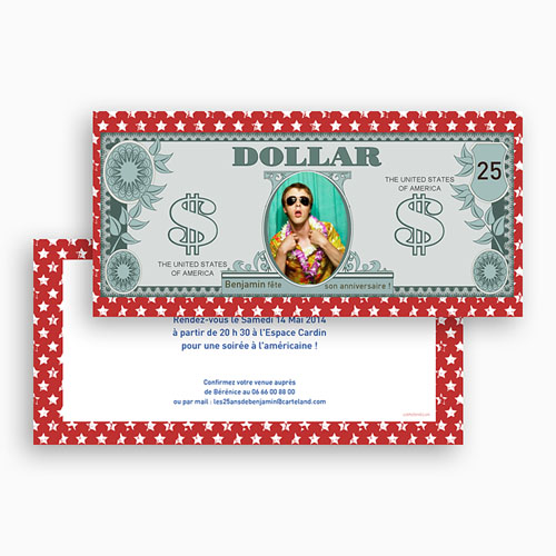 Invitation Anniversaire Adulte - Dollar américain 23651 preview