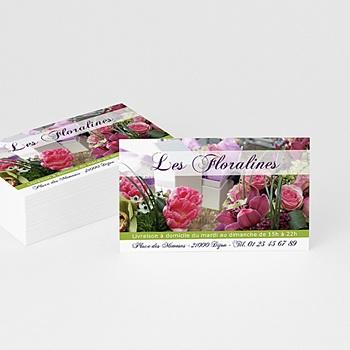 Carte de visite fleuriste personnalisé