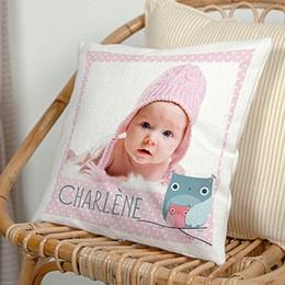 Coussin Cadeaux Bébé et prénom
