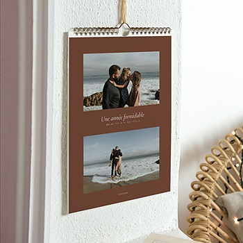 Univers calendrier marron terre personnalisable
