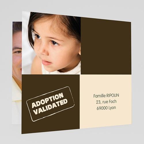 Faire-part Adoption Fille - L'arbre d'amour - Rose 23768 thumb