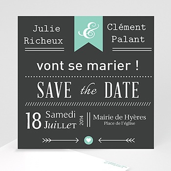 Save-The-Date - Ardoise Vintage - 1