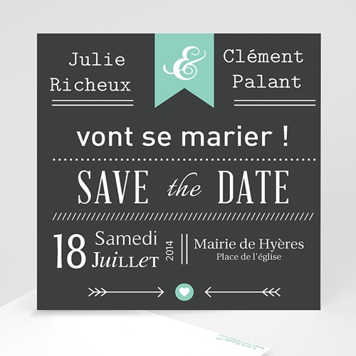 Save-The-Date - Ardoise Vintage 23775 thumb