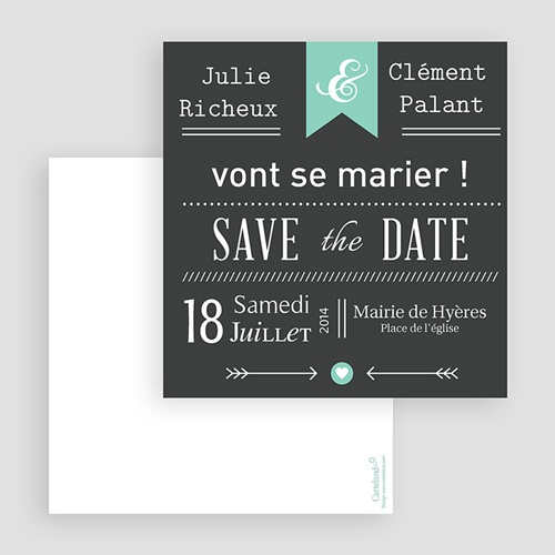 Save-The-Date - Ardoise Vintage 23777 thumb