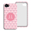 Coque Iphone 4/4s personnalisé - Tapisserie rose 23786 thumb