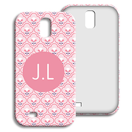 Coque Samsung Galaxy S4 - Tapisserie rose - 1