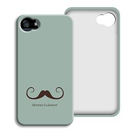 Coque Iphone 4/4s personnalisé - Gentleman - 1