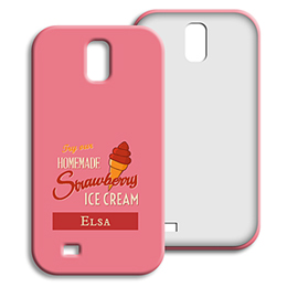 Coque Samsung Galaxy S4 - Homemade Strawberry Ice Cream - 1